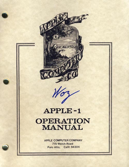 Apple I Operation Manual (Reproduction)